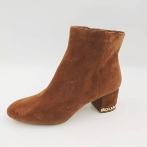 Michael Kors Brown Suede Leather Chain Boots 6